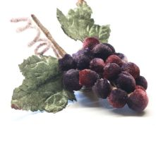 Cluster of Plum/ Wine Velvet Grapes Hat Trim